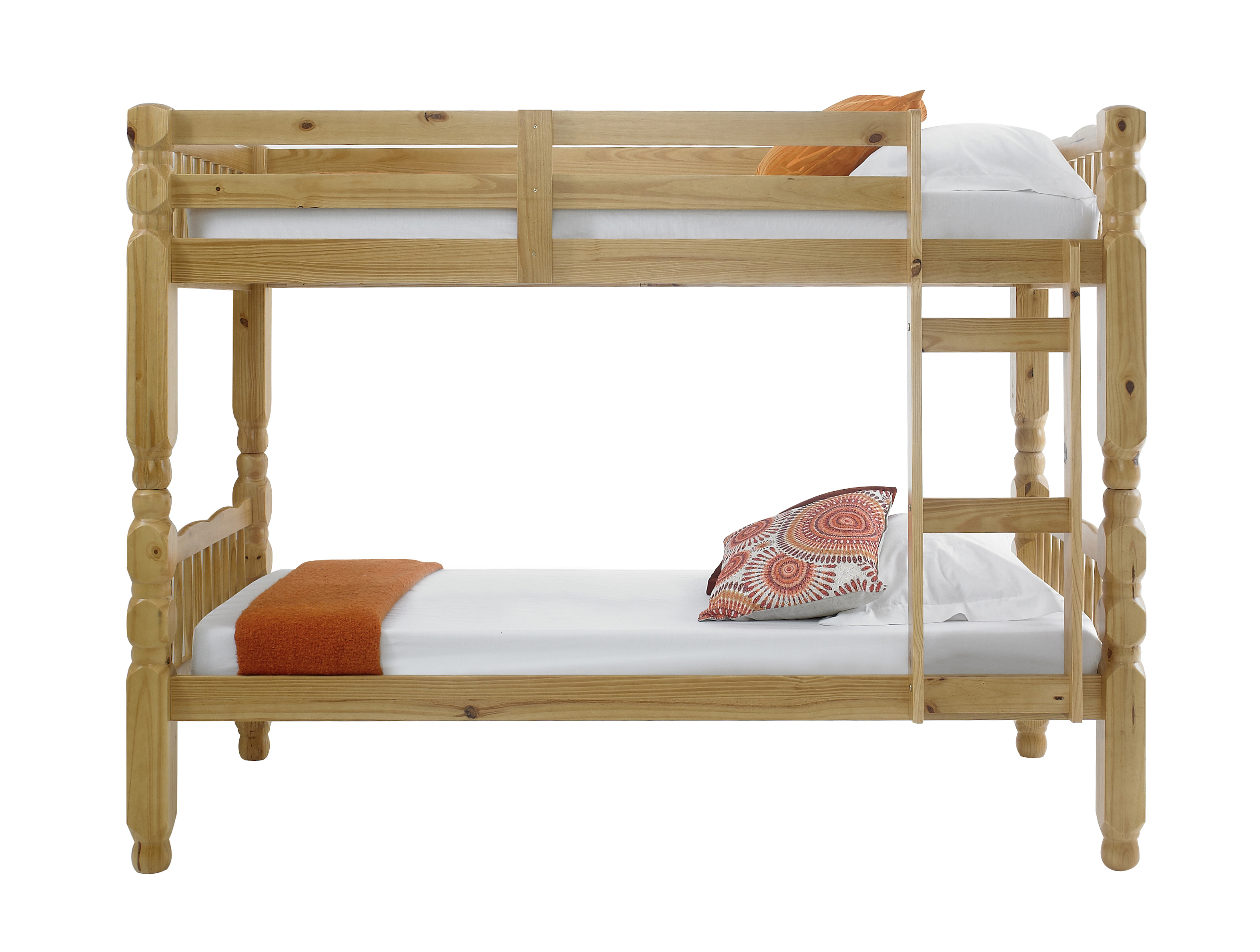 Chunky solid thick strong pine wood for Wooden bunk beds