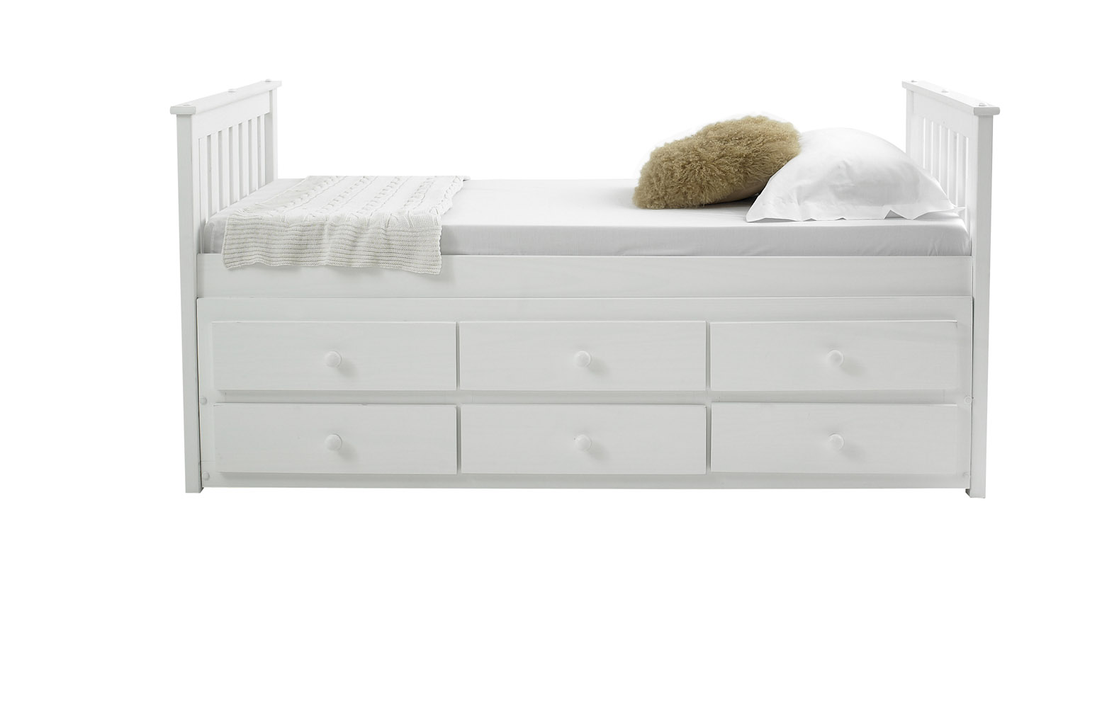Mission captain 3ft single for Single bed with drawers and mattress