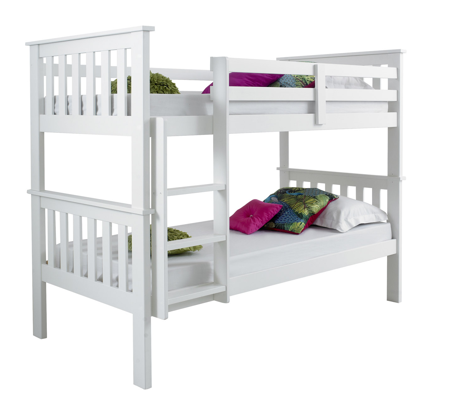 Betternowm Co Uk Atlantis Solid Pine Wooden Bunk Bed With 2 X