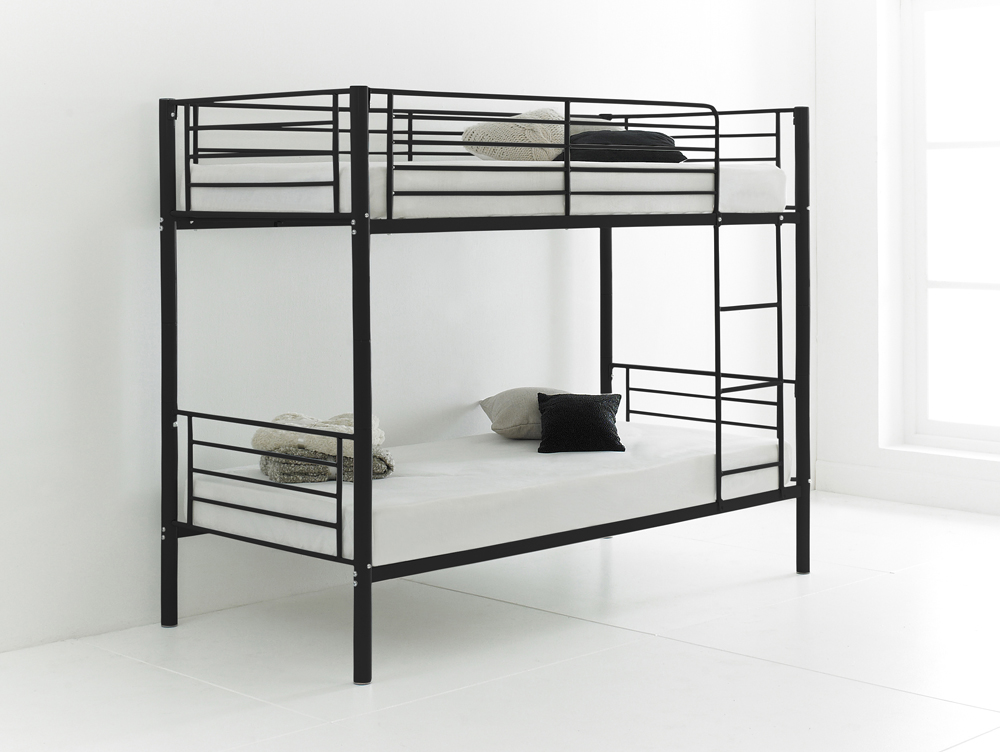 Betternowm Co Uk Cherry Quality Metal Bunk Bed With 2 X