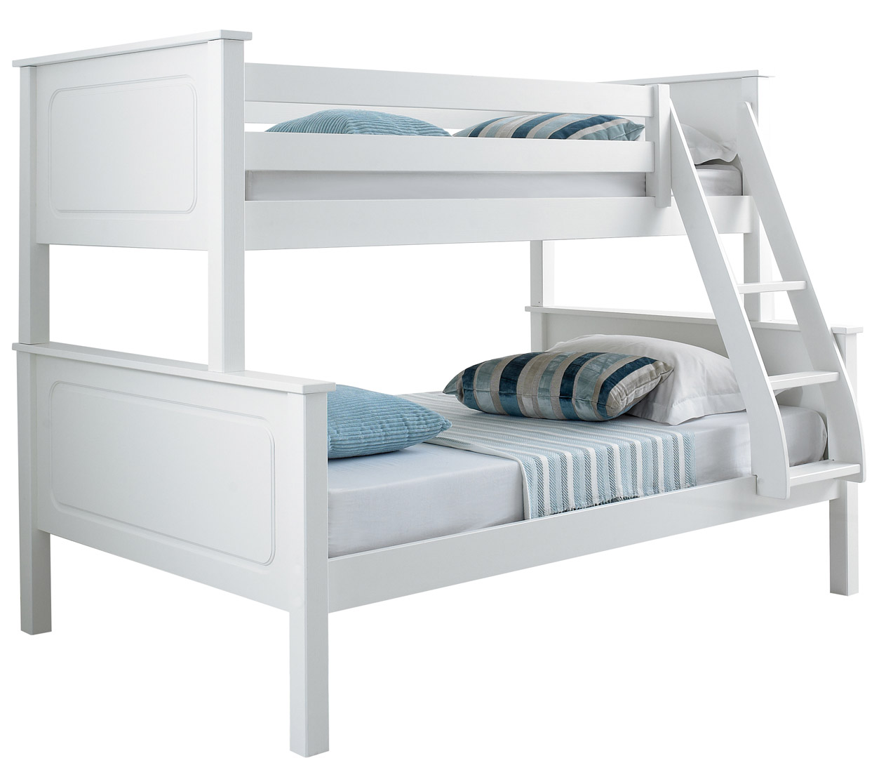 vancouver solid pine wooden triple sleeper bunk bed with 2 x mattresses. Black Bedroom Furniture Sets. Home Design Ideas